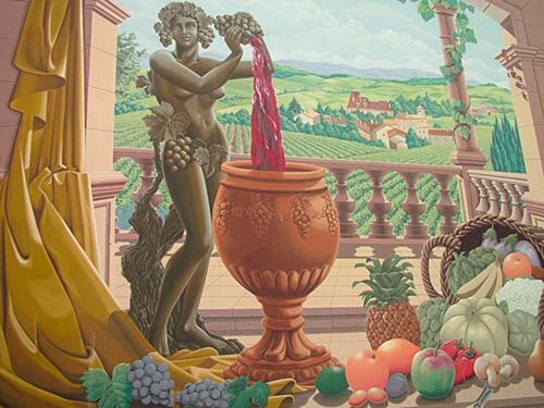 Beaujolais mural
